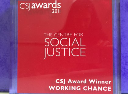 Centre for Social Justice award