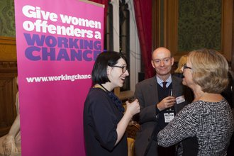 House of Lords event pop up banner and guests